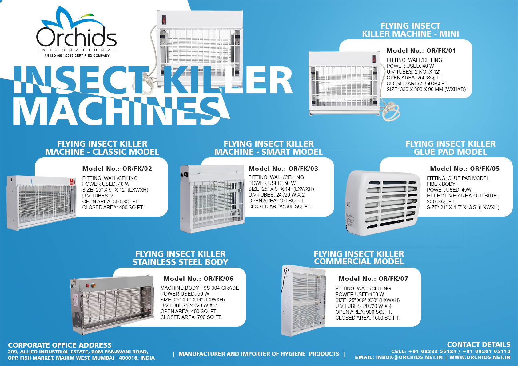 Flying Insect Killer Commercial Model – Orchids International